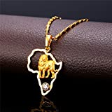 U7-Africa-Map-Pendant-With-Lion-18K-Gold-Plated-Flat-Chain-Women-Men-Necklace