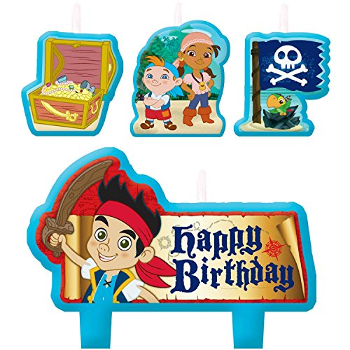 DesignWare Amscan AMI 171288 Jake and The Neverland Pirates Birthday Candle Set - 1