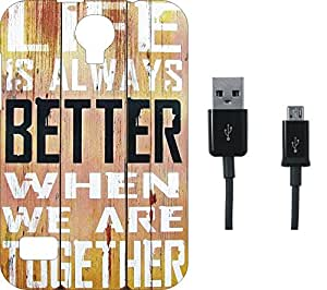 BKDT Marketing Printed Soft Back Cover Combo for Reliance LYF Flame 2 With Charging Cable