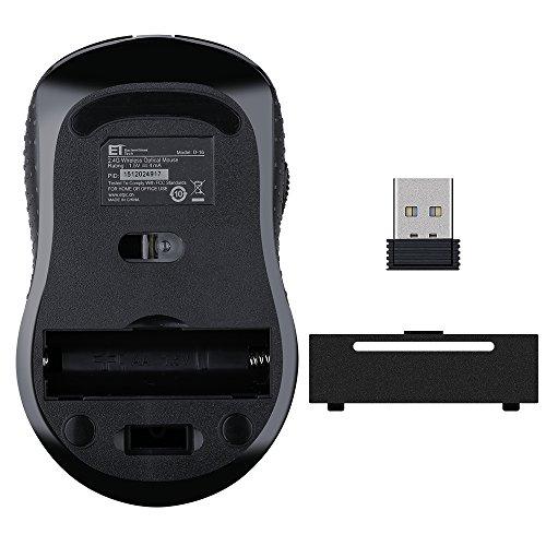 Ratón inalámbrico Mini de VicTsing (2400DPI, 2.4GHz) USB y Óptico, con Nano Receptor