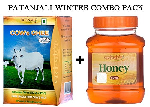 PATANJALI COW'S GHEE 500GM & HONEY 500GM COMBO PACK By Amazon @ Rs.385