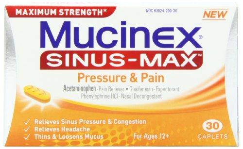 Mucinex Sinus Max Pressure/Pain Caplets, 30 Count