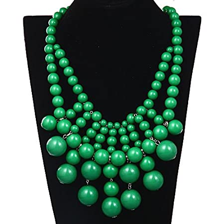 the color emerald statement necklaccce