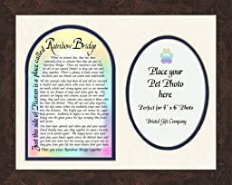 Pet Memorial Photo Frame with Rainbow Bridge Poem Gift Art 9\