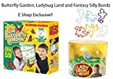Insect Lore Live Butterfly Garden, Ladybug Land, Silly Bandz