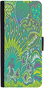 Snoogg Abstract Seamless Texture With Fishdesigner Protective Flip Case Cover...