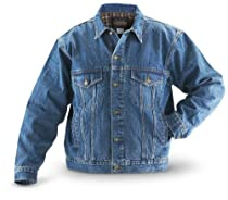 Guide Gear Flannel - lined Denim Jacket Stonewash, STONEWASH, XL