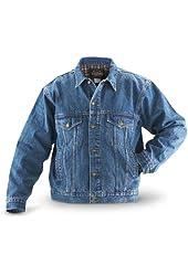 Guide Gear Flannel - lined Denim Jacket Stonewash
