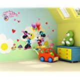 Mickey Mouse & Ballon Wandtattoo Wandaufkleber Wall sticker - Bogen Gr.45*60cm
