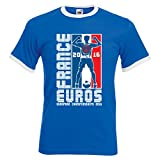 "D2W Tee-shirt ras du cou Championnat d'Europe de football 2016 France motif ""peace"" - XL 44/46..."