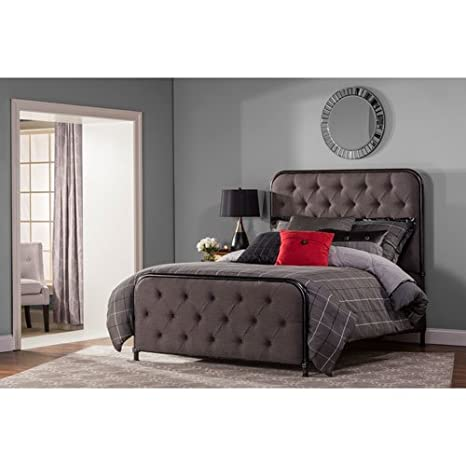 Bed Set in Black Finish (Queen - 83 in. L x 72.25 in. W x 60 in. H)