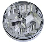 R & M International Top Selling Set of  5 Cutest  Mini Dog Treat Cookie Cutters in Storage Tin - Make Your Own Treats and Crafts
