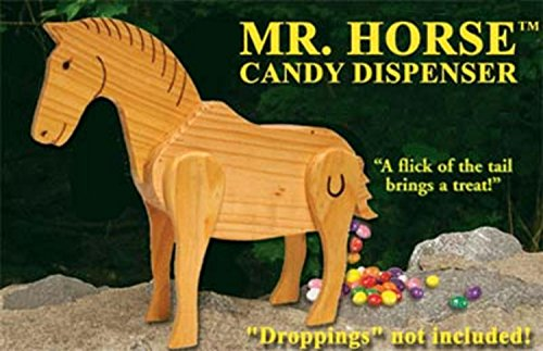 Northlight Mr. Horse Wooden Candy Dispenser Funny Toy with Poops Candy