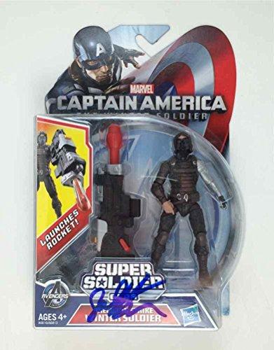 Sebastian Stan Captain America Winter Autographed Signed Action Figure