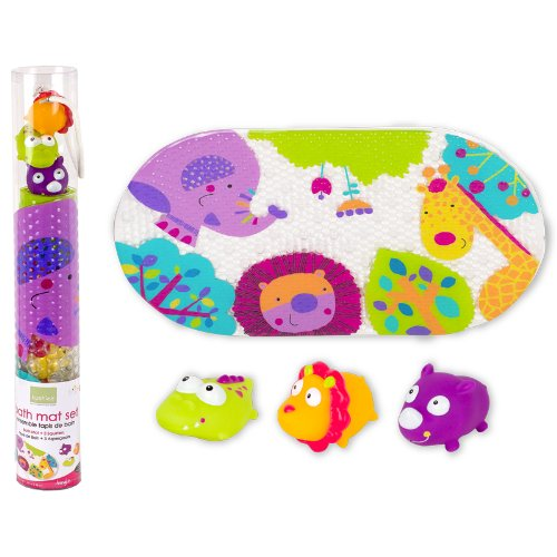 Bath Mat and Squirter Set, Jungle