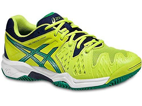 Asics Gel Resolution 6 Clay Gs Lime/Verde/Blu Scarpa tennis (ITA 34,5 US 2,5)