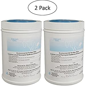 2 Pack Bonus Bundle! Audiowipes Disinfectant Towelettes - Large Canister (160 Wipes Per Canister) by Audiologists Choice