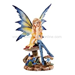 New 2013 Amy Brown Fantasy Magician Faery Mushroom Fairy Statue Enchanted 6h Figurine
