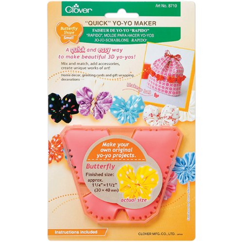 Quick Small Yo-Yo Maker Butterfly Shape - 1