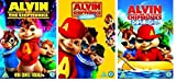 Alvin and the Chipmunks Film Trilogy - All 3 Movies Triple Pack (3 Discs) DVD Box Set Complete Collection - Part 1 / Part 2: The Squeakquel / Chipwrecked + Extras