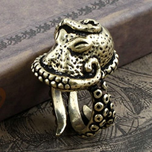 New Fashion Antique Cool Punk Gothic Vintage Octopus Carved Ring Animals Jewelry