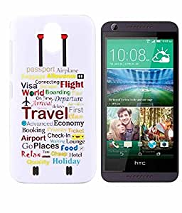 Exclusive Hard Back Case Cover For HTC Desire 526G+ 526 G Plus Dual Sim - Travel Economy