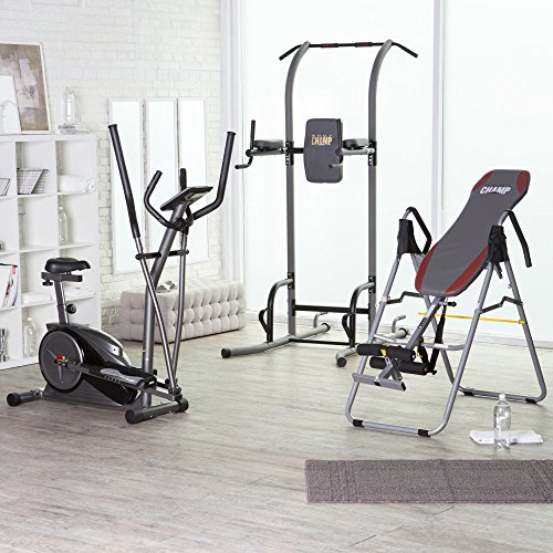 Body Champ Body Deluxe Cardio, Strength, & Wellness Bundle, Gray, Metal