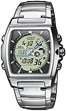 Casio - EFA-120D-7A - Edifice - Montre Homme - Quartz Analogique - Digital - Cadran LCD - Bracelet Acier Gris