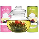 Primula Blossom Teapot with 24-Pack Flowering Teas, 40-Ounce