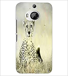 PrintDhaba Leopard D-4349 Back Case Cover for HTC ONE M9 PLUS (Multi-Coloured)