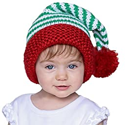 Huggalugs Boys or Girls Peppermint Twist Christmas Stocking Hat L (2-6yr)