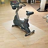 Floordirekt SPORT Bodenmatte / Unterlegmatte für Heimtrainer, Ergometer, Crosstrainer und andere Fitnessgeräte - transparent - 75x120cm