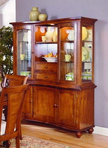 Cheap Ashborough Collection Hardwood China Cabinet /Buffet Hutch (VF_HE1371-50)
