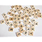 Scrabble Like Tiles for Games or Crafts 60 Tiles All Letters No Blanks