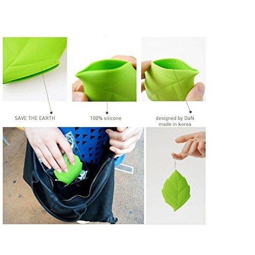 Efbock Maple Leaf Portable Silicone Drinking Wash Gargle Travel Cup Camping Pocket 2pcs