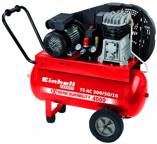 Einhell-Kompressor-TE-AC-3005010-20-kW-50-Liter-Ansaugleistung-300-lmin-10-bar-2-Zylinder