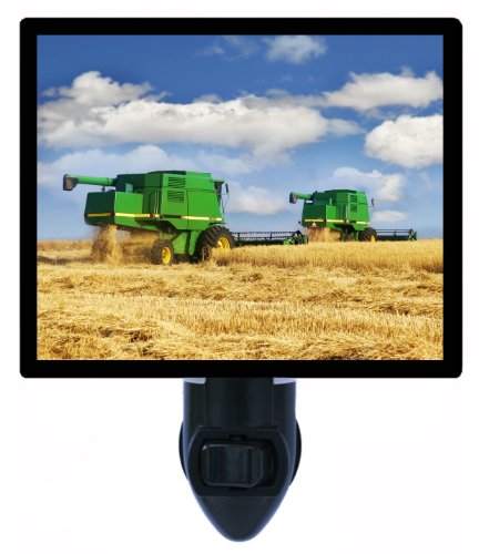 Country And Farming Night Light - In The Field - Combines