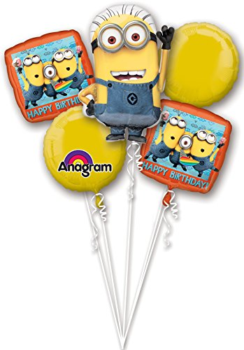 1 X Despicable Me Minions Balloon Bouquet