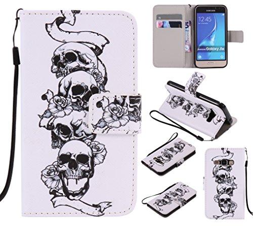 BONROY-Schutzhlle-Cover-Handyhlle-Etui-fr-Samsung-Galaxy-J1201645-Zoll-1141-cm-HllePU-Leder-Schutzhlle-Bookstyle-Folio-Handyhlle-Flip-Cover-Schale-Tasche-Brieftasche-Bumper-mit-Kartenfcher-und-Magnetv
