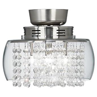 euro design crystal 11 round ceiling fan light kit ceiling fan. Black Bedroom Furniture Sets. Home Design Ideas