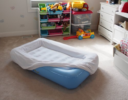 Lazynap Lz-04K Kids Air Mattress With Wrap-Around Bumpers, Soft Washable Cover (Includes Hand-Held A/C Electric Pump)