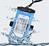 Universal Waterproof Smartphone Cases Mobile Phone Bag Protective Case Cover For Iphone Samsung HTC And Other Mobiles Up To 4.5 Inch Swimming Skiing Fishing Camping Blue