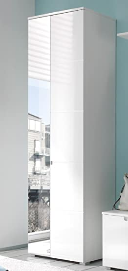 AVANTI TRENDSTORE - SPILLA - Armadio in bianco splendente d'imitazione/bianco, ca 60x198x40cm