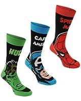 Marvel Mens 3 Pack Crew Socks Elasticated Cotton Quality Branded Male Socks