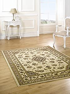 Sincerity Sherborne Beige Contemporary Rug/Runner Rug Size: 290cm x 200cm (9 ft 6 in x 6 ft 6.5 in) from Flair Rugs