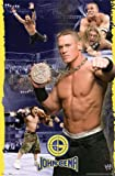 JOHN CENA POSTER - WRESTLING COLLAGE WWE - NEW 24X36