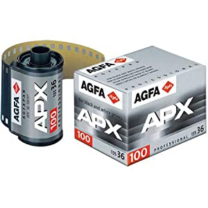 Agfa Agfapan APX 100 Black & White Negative Film ISO 100, 35mm Size, 36 Exposure