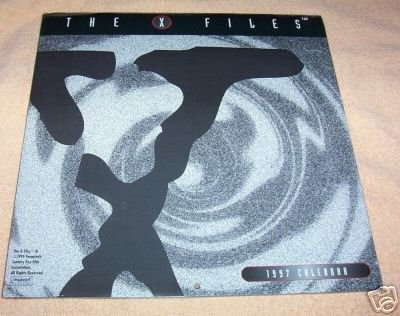 THE X FILES 1997 COLLECTIBLE CALENDAR (SEALED, MINT) (Vintage Scifi Calendar compare prices)