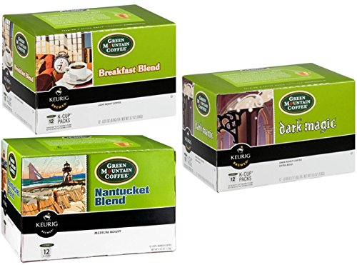 Green Mountain Coffee K-Cup Variety Pack (36 Count): Breakfast Blend, Nantucket Blend and Dark Magic (Light Roast K Cups Nantucket compare prices)