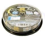 ALL-WAYS Blu-rayDisc25GB1回記録用インクジェットプリンタワイドな印刷対応1-6倍速スピンドルケース10枚入り ABR25-6X10PW